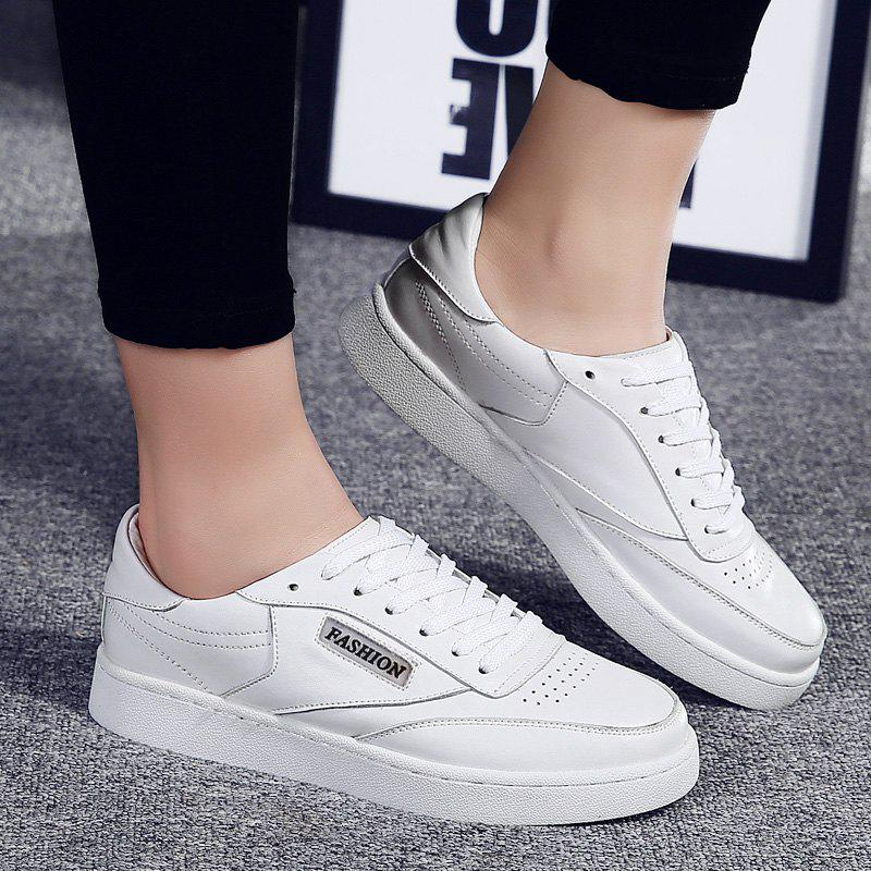Hollow Low Top Breathable Sneakers - WHITE 38