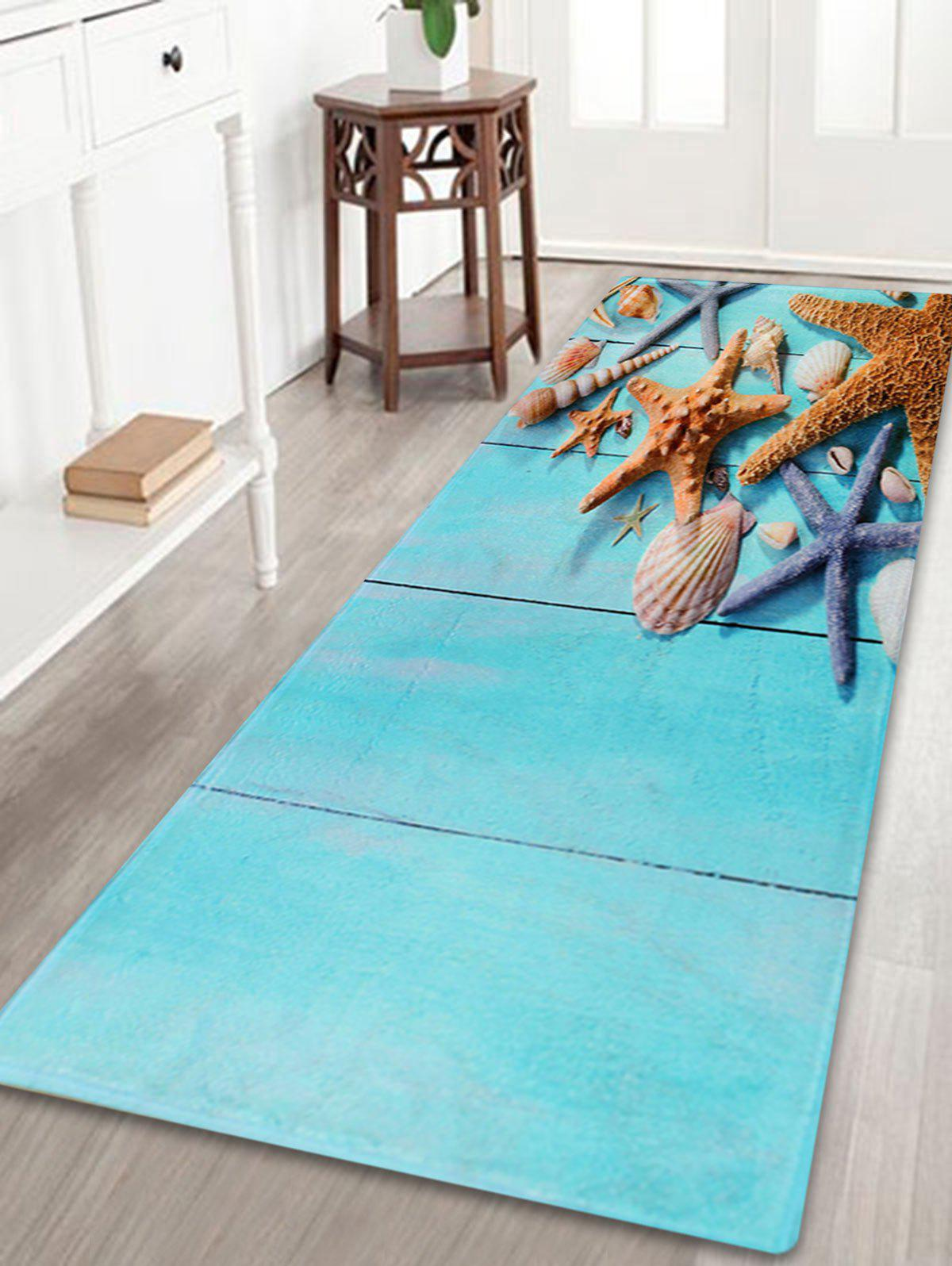 Larger Water Absorbent Starfish Plank Bath Rug soft absorbent letter star wars bath rug