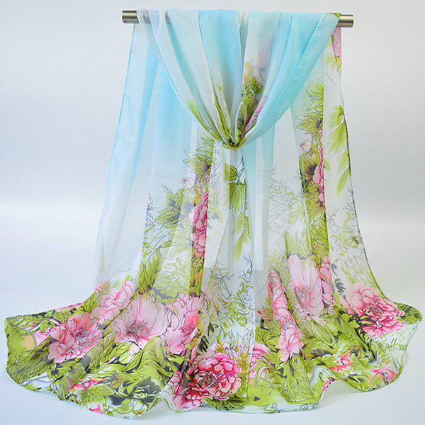 Gossamer Hand-painted Flowers Bloom Printed Scarf klaus h carl shoes