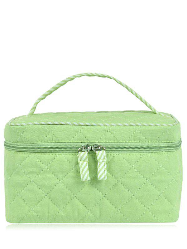 Top Handle Quilted Cosmetic Bag, LIGHT GREEN in Cosmetic Bags ... : quilted cosmetic bags - Adamdwight.com