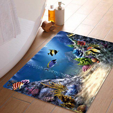 Underwater World Pattern Indoor Outdoor Area Rug - COLORMIX W16 INCH * L24 INCH