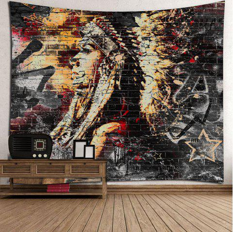 Tissu de plage ethnique Throw Tapestry Wall Hangings - multicolore W71 INCH * L71 INCH