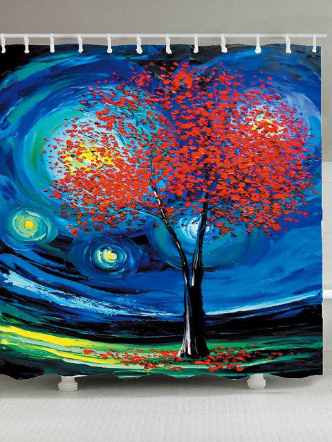 Custom 2019 Oil Painting Tree Of Life Shower Curtain In Blue W65