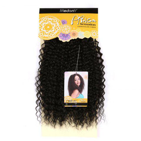Medium Shaggy Deep Wave Synthetic Hair Weft - BLACK