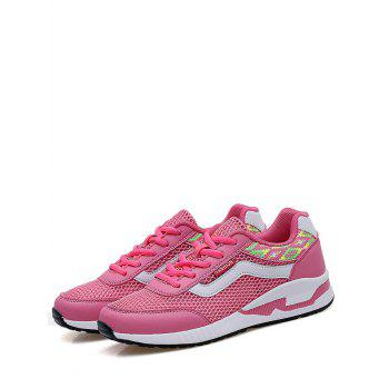 Breathable Geometric Pattern Athletic Shoes - 38 38