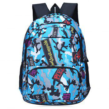 Camouflage and Patches Print Backpack