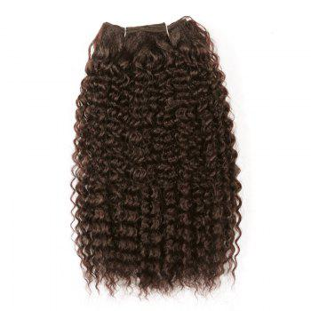 Medium Shaggy Deep Wave Synthetic Hair Weft - DEEP BROWN DEEP BROWN