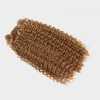 Medium Shaggy Deep Wave Synthetic Hair Weft - LIGHT BROWN LIGHT BROWN