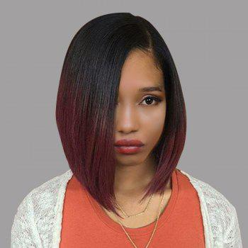 Side Part Ombre Short Straight Bob Synthetic Wig