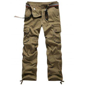 Straight Leg Zip Fly Cargo Pants