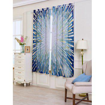 2 Panels Firework Printed Blackout Window Curtains - W53 INCH * L63 INCH W53 INCH * L63 INCH