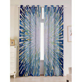 2 Panels Firework Printed Blackout Window Curtains - COLORFUL COLORFUL