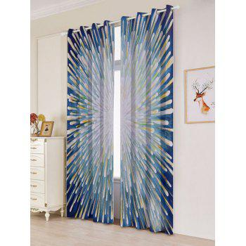 2 Panels Firework Printed Blackout Window Curtains - COLORFUL W53 INCH * L96.5 INCH