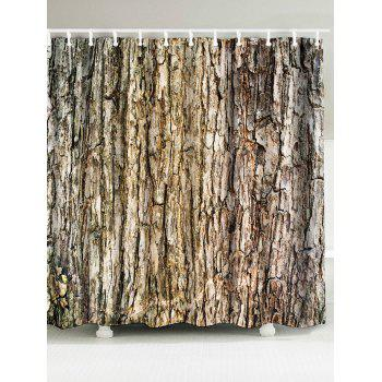 Wood Grain Bark Fabric Shower Curtain - WOOD WOOD