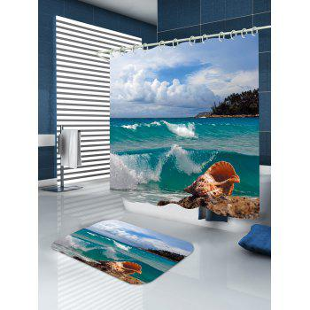 Conch Beach Print Waterproof Shower Curtain - W71 INCH * L79 INCH W71 INCH * L79 INCH