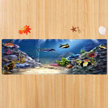 Moquette sous-marine World Pattern Indoor Outdoor - multicolorcolore W16 INCH * L47 INCH