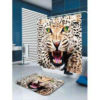 Waterproof Leopard Print Shower Curtain - W71 INCH * L71 INCH W71 INCH * L71 INCH