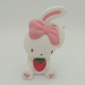 Simulation Animal Slow Rising Squishy Rabbit Toy - WHITE WHITE