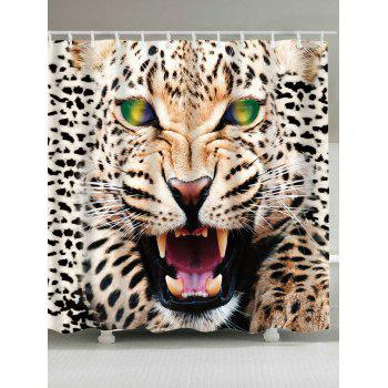 Waterproof Leopard Print Shower Curtain - LEOPARD W71 INCH * L79 INCH