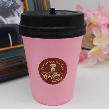 Squishy Toy PU Simulation Coffee Cup - PINK PINK