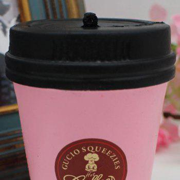 Squishy Toy PU Simulation Coffee Cup -  PINK