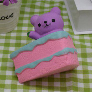 PU Slow Rebound Squishy Food Simulation Cake Bear - PURPLE PURPLE