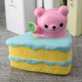 PU Récolte lente Squishy Food Simulation Cake Bear - ROSE PÂLE
