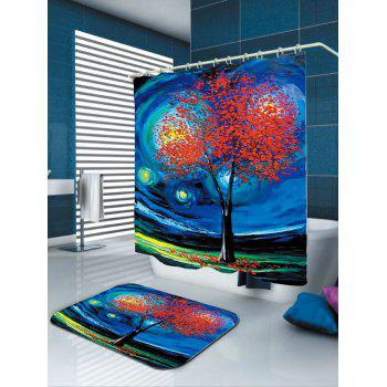 Oil Painting Tree of Life Shower Curtain - W71 INCH * L71 INCH W71 INCH * L71 INCH