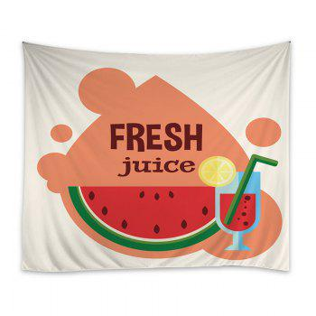 Wall Hanging Art Watermelon Juice Print Tapestry - COLORMIX W59 INCH * L51 INCH