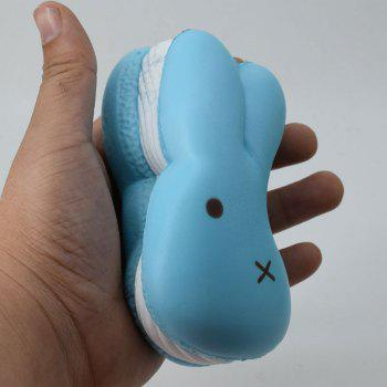 Squishy Toy PU Simulation Macaron Rabbit Bread -  BLUE