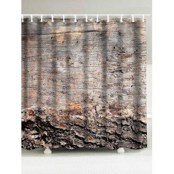 Wood Grain Fabric Waterproof Shower Curtain - WOOD WOOD