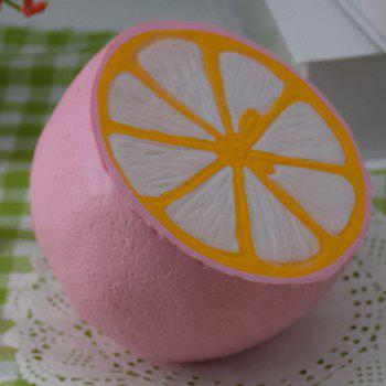 Simulation Toy PU Stress Relief Squishy Lemon - PINK
