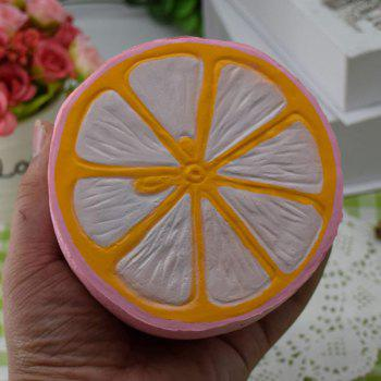 Simulation Toy PU Stress Relief Squishy Lemon - PINK PINK
