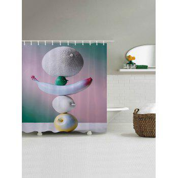 Stacking Fruits Print Fabric Bathroom Shower Curtain - W71 INCH * L71 INCH W71 INCH * L71 INCH