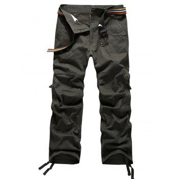 Zip Fly Straight Leg Pockets Cargo Pants