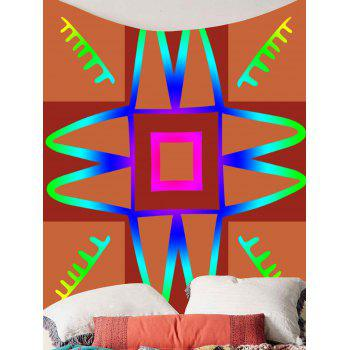 Unique Design Hanging Wall Art Decor Tapestry - DEEP ORANGE W59 INCH * L59 INCH