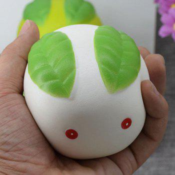 Simulation Toy Stress Relief Squishy Steamed Bun - WHITE WHITE