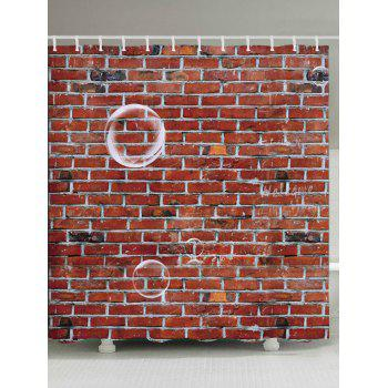 Brick Wall Pattern Fabric Bathroom Shower Curtain - LATERITE LATERITE