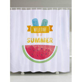 Watermelon Ice Cream Pattern Fabric Bathroom Shower Curtain
