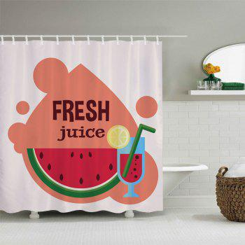 Watermelon Juice Pattern Fabric Bathroom Shower Curtain - COLORMIX COLORMIX