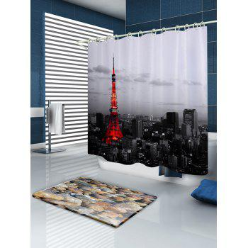 Effiel Tower Print Fabric Bathroom Shower Curtain - W71 INCH * L71 INCH W71 INCH * L71 INCH