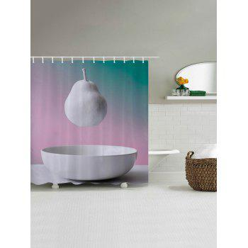 Hanging Pear Pattern Fabric Bathroom Shower Curtain - W71 INCH * L79 INCH W71 INCH * L79 INCH