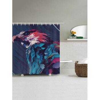 Eagle Painting Print Fabric Bathroom Shower Curtain - COLORMIX W71 INCH * L79 INCH
