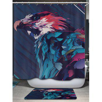 Eagle Painting Print Fabric Bathroom Shower Curtain - W71 INCH * L71 INCH W71 INCH * L71 INCH