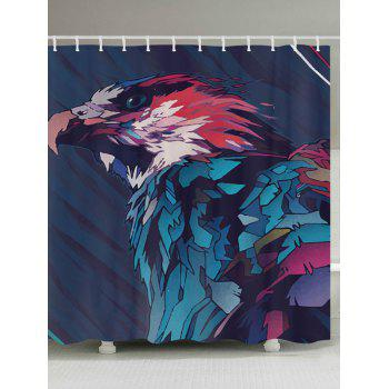 Eagle Painting Print Fabric Bathroom Shower Curtain - COLORMIX W71 INCH * L71 INCH
