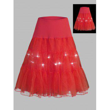 Plus Size Light Up Cosplay Party Skirt