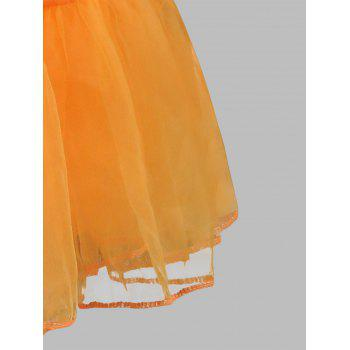 Grand style Light Up Cosplay Party Skirt - Orange 3XL