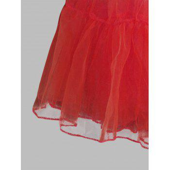 Grand style Light Up Cosplay Party Skirt - Rouge 4XL