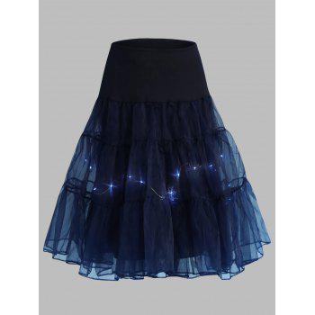 Grand style Light Up Cosplay Party Skirt - Azuré 6XL