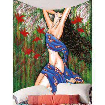 Beauty Forest Print Wall Art Tapestry - COLORFUL W59 INCH * L59 INCH